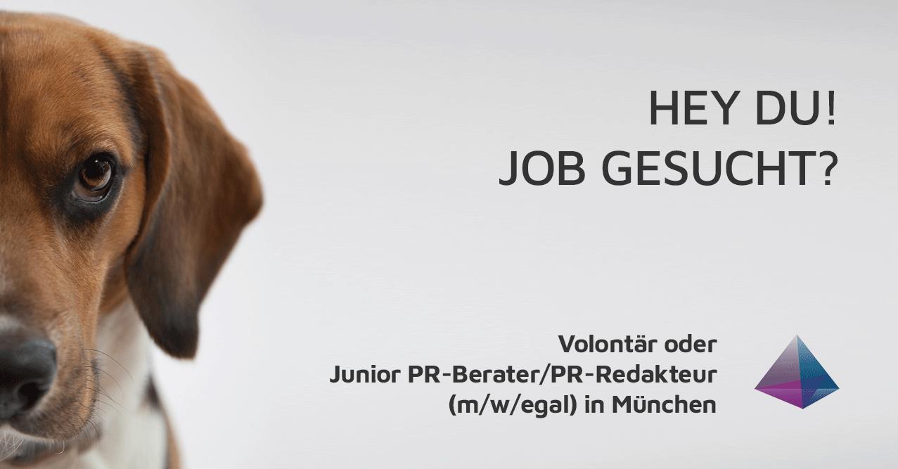 Junior PR-Berater/PR-Redakteur gesucht!